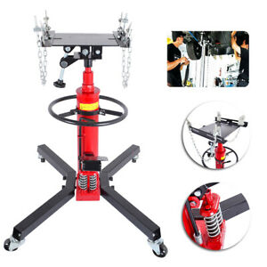 Adjustable Height Hydraulic Transmission Jack 2stage Auto Shop Car Lift 1100lbs