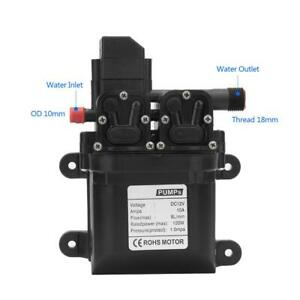 Dc12v 120w High Pressure Self Priming Diaphragm Water Pump With Automatic Switch