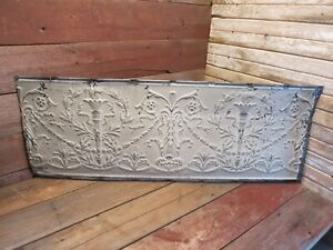 Vintage Antique Metal Tin Ceiling Tile 48 X18 Reclaim Salvage Tile Victorian