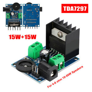 Tda7297 Stereo Power Audio Amplifier Board Module Dual Channel 15w 15w Diy Kit