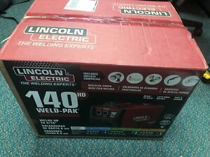 New Lincoln Weld pak 140hd k2514 1 Mig flux cored Wire Feed Welder Free Ship
