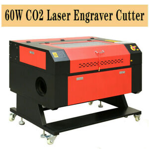 100w Co2 Cnc Laser Engraver Cutter Cutting Engraving Machine Rotary Axis