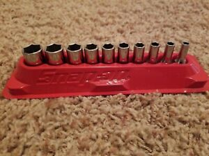 10 Pc Snap on Tms Semi Deep Socket Set Sae Pakty219 W tray mint