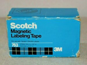 Scotch 763 Magnetic Labeling Tape 3 4 X 197 Box 5 Rolls 1 black 1 blue 3 red