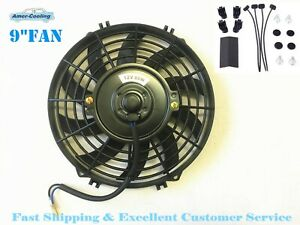 2 X 9 Inch Fan Universal Electric Radiator Cooling Slim Push Pull Mounting Kit