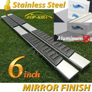 Fit 07 18 Silverado Crew Cab Diesel Truck 6 Nerf Bar Side Step Running Board