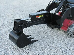 Hydraulic Backhoe Attachment With 12 Bucket Fits Toro Dingo Mini Skid Steer