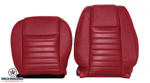 2005 2009 Ford Mustang V8 Coupe Gt driver Side Complete Leather Seat Covers Red