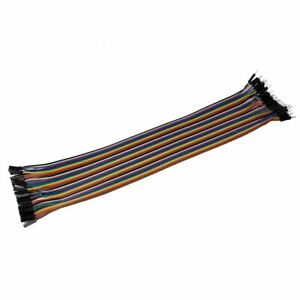 30cm 40 Pin Ribbon Cable W dupont Connectors male To Female