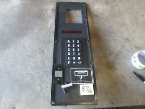 Used Faceplate Keypad Membrane Dixie narco Dn5591 Soda Machine Free Shipping