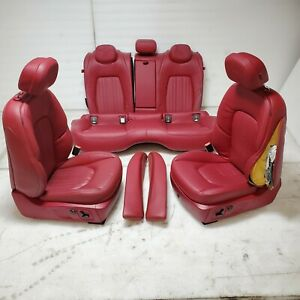 2015 Maserati Ghibli Sq4 Interior Front Rear Red Leather Seat Package Kit Oem