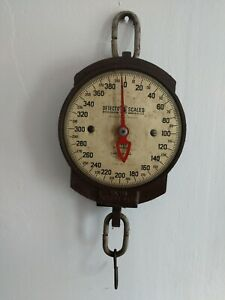 Antique Vintage Heavy Duty Detecto Scale For Produce Or Hardware 400lbs Cap