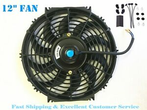 12 Inch Universal Slim Electric Radiator Cooling Fan Push Pull 12v Mount Kit