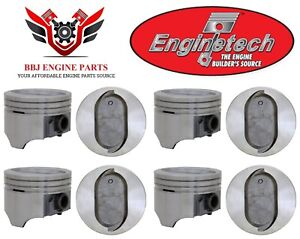 8 Enginetech Ford Mercury 460 V8 Dish Top Pistons 1968 1987