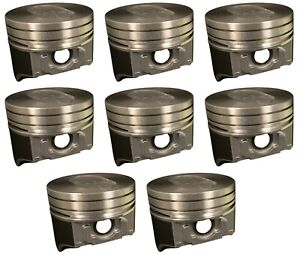 8 Sealed Power Ford Truck 460 V8 Hypereutectic Dish Top Pistons 1988 1992