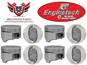 Ford 460 V8 Enginetech Dish Top Pistons 8 1993 1997