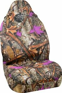 Wild Wood Camo Purple Leaf Universal Bucket Seat Covers Bell Automotive