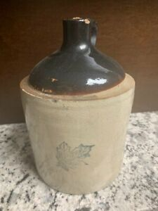 Vintage Western Stone Ware One Gallon Jug With Cork Excellent Condition
