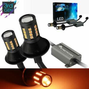 Error Free Canbus Ready Yellow amber Led Front rear Turn Signal Light Bulbs Drl