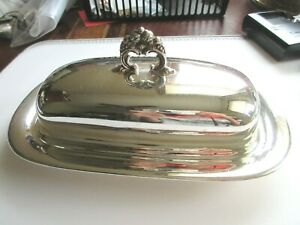 Reed Barton Francis I Sterling Silver X568 Butter Dish Glass Insert Fabulous