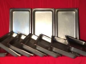 10ct Solid Stainless Steel Hotel Pans 20 7 8 X 12 7 8 X 2 1 2 full Size