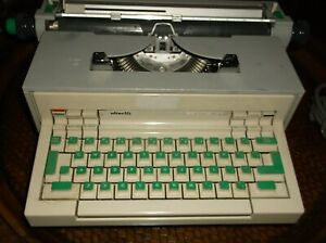 Olivetti Praxis 48 1970s Electric Portable Typewriter Itallian Design