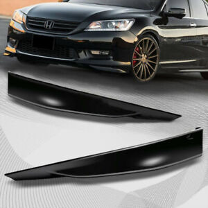 Fits 2013 2015 Honda Accord Sedan 4d Hfp Style Front Bumper Lip Splitter 2pcs