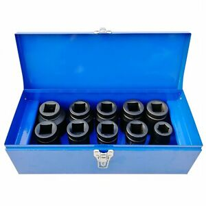 1 Inch Drive Deep Impact Socket Set 22 50mm Hgv Long Reach Impact Sockets Inch