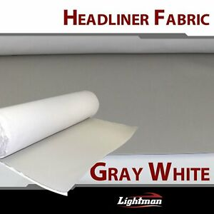 30 X60 Foam Backed Headliner Fabric Material Quality Automotive Roof Grey White