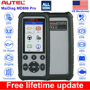 Autel Md806 Pro All System Obd2 Diagnostic Tool Epb Bms Sas Better Md802 Md805