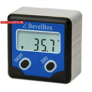 Digital Light Weight Bevel Box Gauge Angle Protractor Magnetic Angle Gage Level