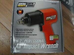New Central Pneumatic 1 2 Professional Earthquake Air Impact Wrench 68424