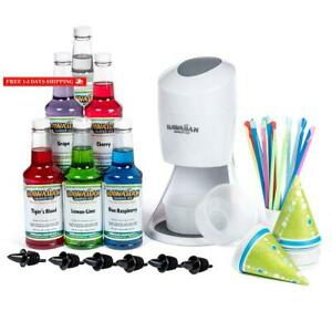Hawaiian Shaved Ice Machine And Syrup 6 Flavor Party Package Includes S900a Sh