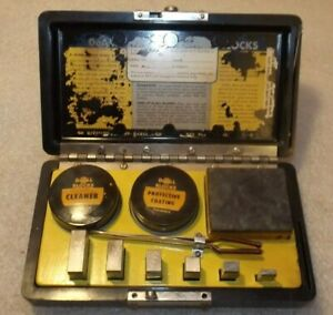 Vtg Doall Precision Gage Block Set 6 With Stone Bakelite Case X