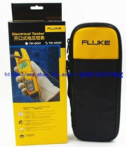 Fluke T6 1000 Clamp Continuity Current Electrical Tester Meter Field Sense Case