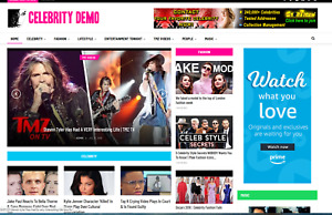 Celebrity News Affiliate Product Website 100 Automated premium Designed
