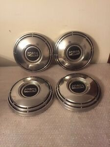1968 1974 Oem Stainless Ford Dog Dish Hubcaps F100 Truck Van Galaxie C8aa 1130 d