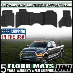 Fits 2009 2017 Dodge Ram Crew Cab All Season Rubber Slush Floor Mats Mopar Oem