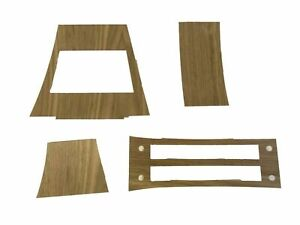 1965 Buick Riviera Console Kit Walnut Wood Veneer no Adhesive 4 Pcs