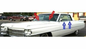 1963 1964 Cadillac 2 Door Hardtop Window Weatherstrip Kit 8 Pcs