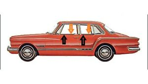 1962 Plymouth Valiant 2 Door Sedan Outers Only Window Beltline Weatherstrip Kit