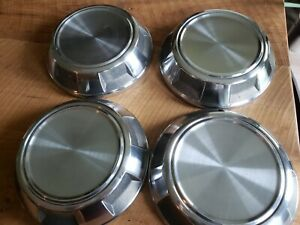 Oem 86 93 Set 4 Dodge Pickup Truck Stainless Hubcaps Dog Dish Caps