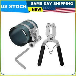 New Piston Ring Compressor Ratchet Style And Piston Ring Installer Pliers Us