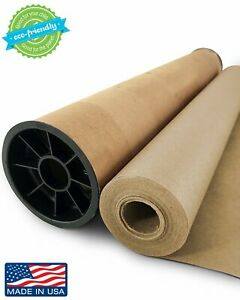 Brown Kraft Paper Jumbo Roll 30 X 1200 100ft With Durable Carry Tube Ide