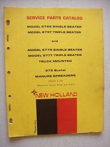 Original New Holland 675s 675t 677s 677t Manure Spreaders Service Parts Catalog