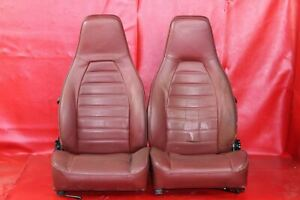 Porsche 911 3 0 Turbo Carrera Lobster Red Leather Seat Set 065