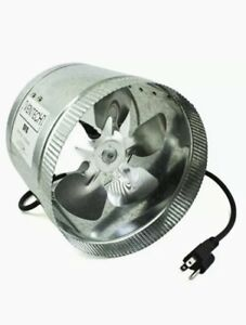 Ventech Ventilation Duct Fan 400 Cfm 8in Cool Air Office Home Shed Work Shop