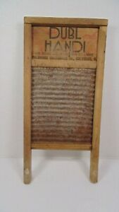 Vintage Dubl Handi Wooden Wash Board 8 5 X 18 Columbus Washboard Co Nice