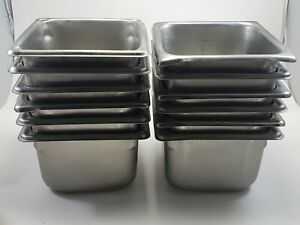 Lot Of 12 Stainless Steel 7 X 6 5 X 4 Insert Steam Table Food Pans Vollrath