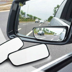 3r Rectangular Curved Surface Car Mounted Blind Spot Rearview Auxiliary Mirror